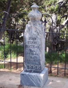 Doc Holliday Grave Marker