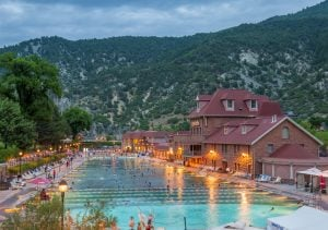 Glenwood Springs Hot Springs at Dusk