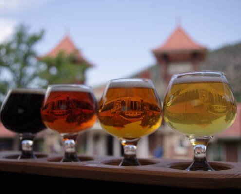 a flight of beer
