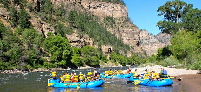 Glenwood Canyon whitewater rafting