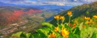Mt. Sopris views in Spring above Glenwood Springs