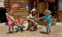 children playing music instruments at glenwood caverns adventure park