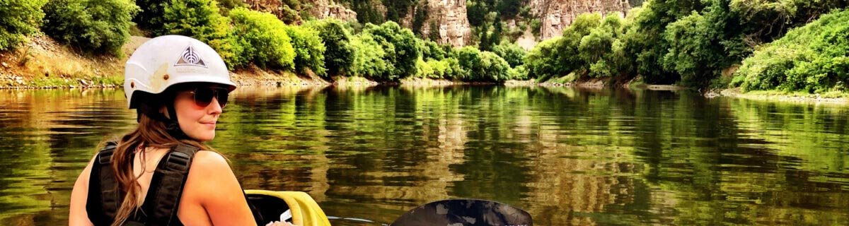 Kayaking in Glenwood Canyon