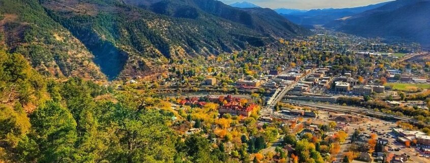 fall scenery of Glenwood Springs