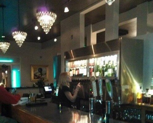 bar and chandaliers