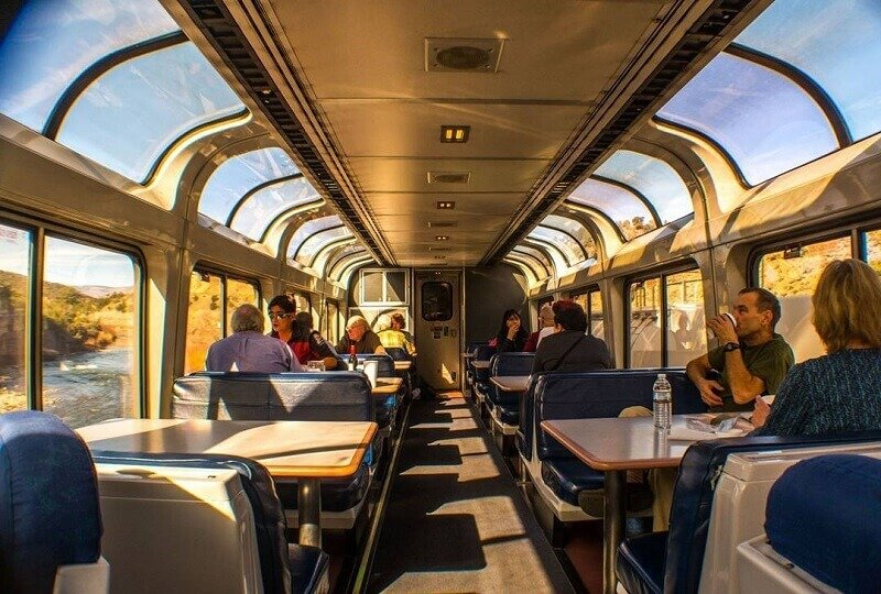 amtrak train from the inside