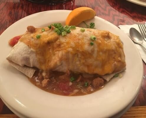 Smothered burrito at Daily Bread