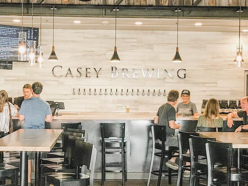 taproom of casey brewing