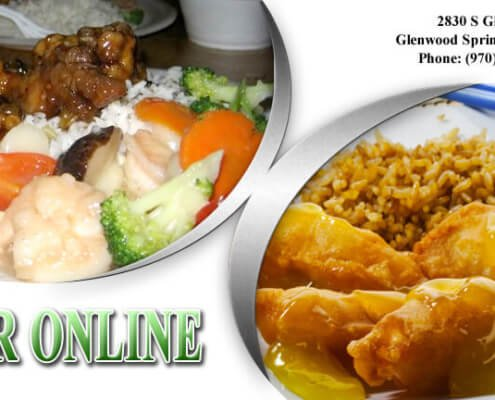 two chinese dishes and information to order online
