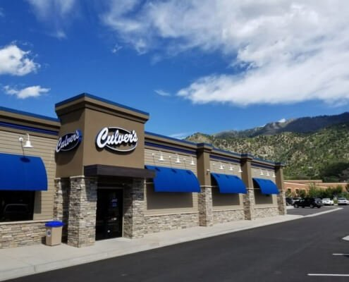 Culver's building outside in Glenwood Springs