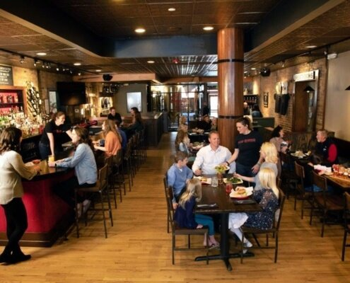 dining room of glenwood canyon brew pub