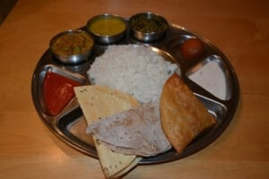 nawan, rice and sauces