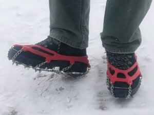 boots with crampons