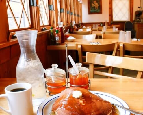 pancakes and coffee