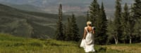 bride in the mountains